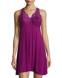 Fleurt Take Me Away Lace Racerback Chemise Women's Deep Orchid