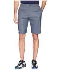Callaway Printed Heather Houndstooth Shorts Peacoat Quiet Shade Blue