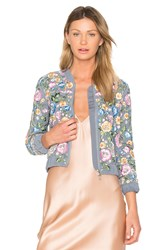 Needle And Thread Lace Foliage Bomber Blue