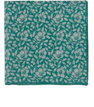 Isaia Houndstooth Floral Pocket Square Green