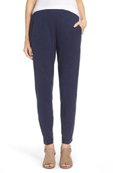 Women's Eileen Fisher Hemp And Organic Cotton Knit Slouchy Slim Pants