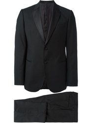 Armani Collezioni Two Piece Piped Dinner Suit Black