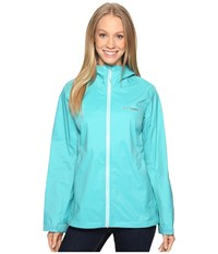 Columbia Evapouration Jacket Miami Ocean Water Zip Women's Coat Blue