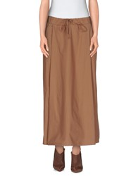 Manila Grace Skirts 3 4 Length Skirts Women Light Brown