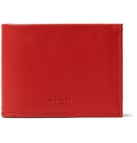 Shinola Leather Bifold Wallet Tomato Red