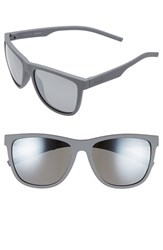 Polaroid Women's Eyewear 56Mm Retro Polarized Sunglasses Grey Grey Mirror Grey Grey Mirror