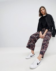 Moss Copenhagen Wide Leg Trousers In Tiger Print Multi