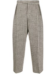 Vivienne Westwood Gingham Check Trousers Brown