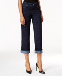 Style And Co Co. Petite Curvy Oxford Wash Capri Jeans Only At Macy's Rinse