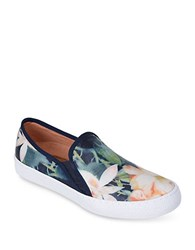 Corso Como Duffy Leather Slip On Sneakers Navy Blue