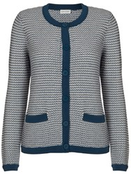 Eastex Tweed Button Up Cardigan Multi Coloured
