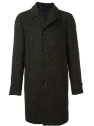 Hevo Mid Length Single Breasted Coat Green