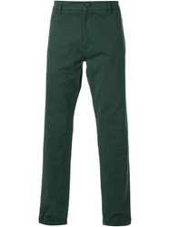 Msgm Classic Chino Trousers Green