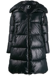 Save The Duck Hooded Padded Coat Black