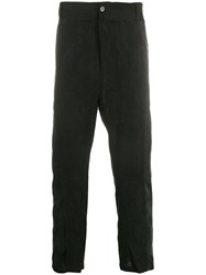 Ann Demeulemeester Embroidered Drop Crotch Trousers Black