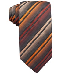 John Ashford Barrett Stripe Tie Only At Macy's Orange