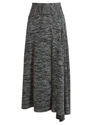 Bottega Veneta Melange Jersey Skirt Grey Multi