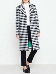 Paul Smith Ps By Checked Coat Navy White Navy White