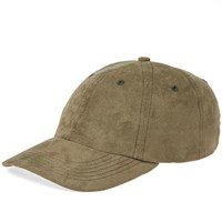 Norse Projects Fake Suede Sports Cap Green