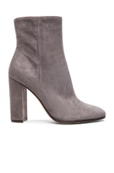 Gianvito Rossi Suede Booties In Gray