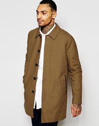 Asos Shower Resistant Single Breasted Trench Coat In Tobacco Beige