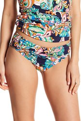Tommy Bahama Paisley High Waisted Bottoms Mare Navy