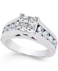 Macy's Diamond Engagement Ring 2 Ct. T.W. In 14K White Gold No Color