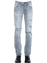 Dolce And Gabbana 16.5Cm Destroyed Cotton Denim Jeans