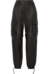 Alexander Wang Convertible Leather Cargo Pants Black
