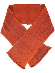Issey Miyake Pleated Scarf Yellow Orange