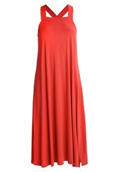 Filippa K Flowy Jersey Dress Spice Red Metallic