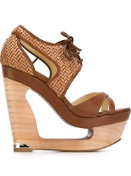 Paloma Barcelo 'Wanda' Sandals Brown