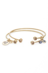 Lonna Lilly Stackable Cuff Bracelets Set Of 2 Worn Gold