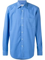 Aspesi Long Sleeved Shirt Men Cotton 42 Blue