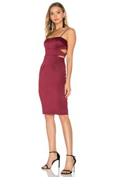 Cynthia Rowley Bonded Cut Out Dress Burgundy
