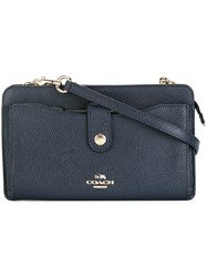 Coach Snap Fastening Crossbody Bag Blue
