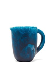 Dinosaur Designs Rock Small Marbled Resin Jug Blue Multi