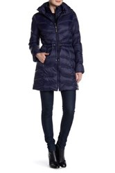 Ellen Tracy Packable Down Jacket Blue