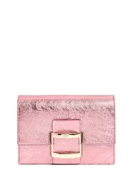 Roger Vivier Micro Viv Metallic Leather Shoulder Bag