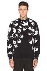 Mcq By Alexander Mcqueen Clean Crew Neck Black And White