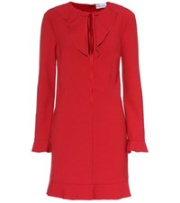 Red Valentino Long Sleeved Mini Dress Red