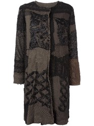 By Walid 19Th Century Beaded Panel Coat Black