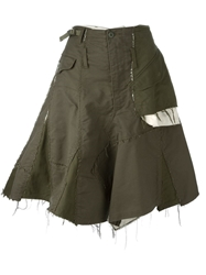 Comme Des Garcons Vintage Military Skirt Green