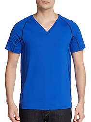 Calvin Klein Mesh Paneled Short Sleeve Shirt Deep Ultra Marine