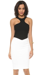 Aq Aq Mix Crop Top Black