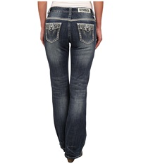 Rock And Roll Cowgirl Mid Rise Bootcut In Medium Vintage W1 2445 Medium Vintage Women's Jeans Blue