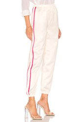 By The Way Nola Double Strip Track Pant Cream
