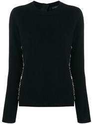Marc Jacobs Embellished Fitted Sweater Black