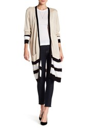 Joseph A Multicolor Striped Cardigan Beige