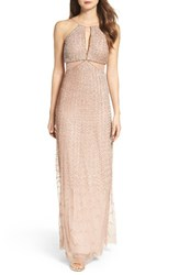 Adrianna Papell Women's Embellished Cutout Gown